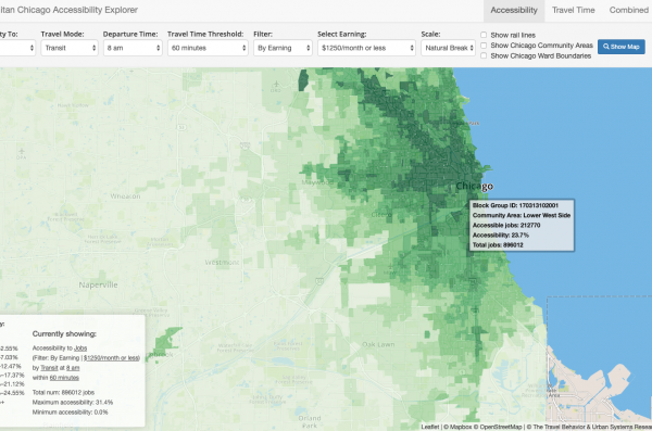 Metropolitan Chicago Accessibility Explorer map