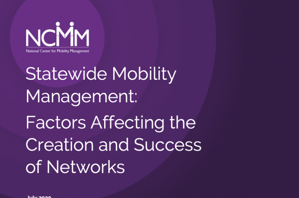Cover of Statewide Mobility Management: Factors Affecting the Creation and Success of Networks