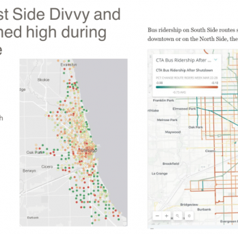 Chicago maps show Divvy and Bus
