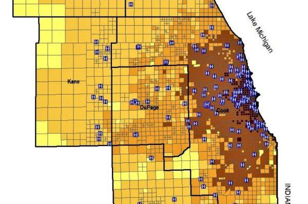Metro Chicago healthcare area studied